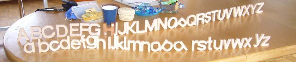 Alphabet Holzbuchstaben